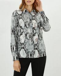 Jaeger - Snakeskin Print Shirt - Lyst