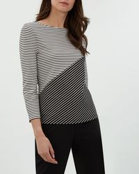 Jaeger - Contrast Stripe T-shirt - Lyst
