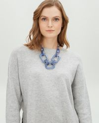 Jaeger - Blue Double Link Resin Necklace - Lyst