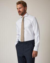 Jaeger Slim Grid Check Shirt - White