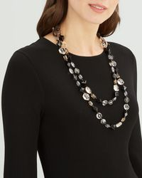 Jaeger - 2 Row Long Necklace - Lyst