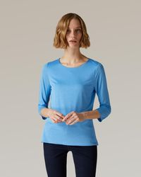Jaeger Essential Jersey Top - Blue