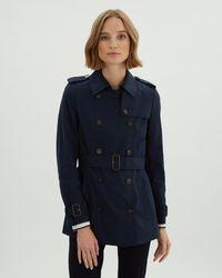 Jaeger Short Trench Coat - Blue