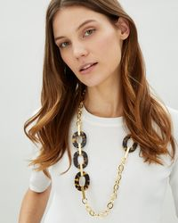 Jaeger | Jennifer Tortoiseshell Oval Station Necklace | Lyst