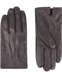 Jaeger - Leather Touchscreen Glove - Lyst