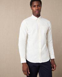 Jaeger Oxford Stripe Shirt - White