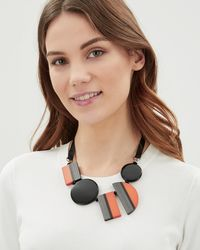 Jaeger - Orange Graphic Resin Tie Necklace - Lyst