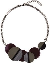 Jaeger - Layered Circle Resin Necklace - Lyst