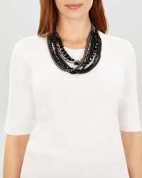 Jaeger - Twist Beaded Necklace - Lyst