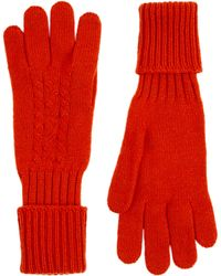 Jaeger - Cable Knit Cashmere Glove - Lyst