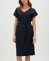 Jaeger - Midi Linen Dress - Lyst