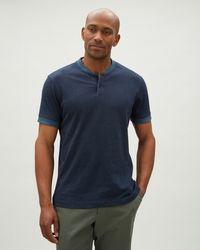 Jaeger - Jersey Polo With Bomber Collar - Lyst