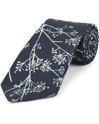 Jaeger - Wild Floral Printed Tie - Lyst