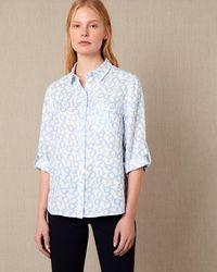 Jaeger - Chain Print Linen Roll Sleeve Shirt - Lyst