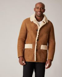 Jaeger Shearling Overcoat - Brown