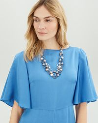 Jaeger - Pearl Short Necklace - Lyst