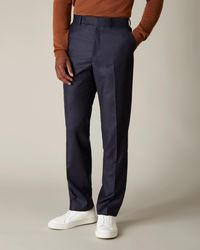 Jaeger Regular Navy Flannel Suit Trousers - Blue
