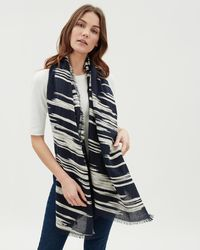 Jaeger - Texture Woven Scarf - Lyst