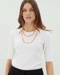 Jaeger - Katie Skinny Sparkle Station Necklace - Lyst