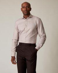 Jaeger Slim Rust Check Shirt - Multicolour