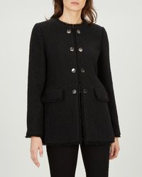 Jaeger - Boucle Jacket With Metal Buttons - Lyst