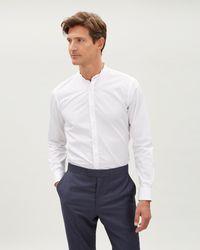Jaeger - Slim Fit Collarless Shirt - Lyst
