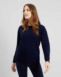 Jaeger - Rib Detailed Knitted Sweatshirt - Lyst