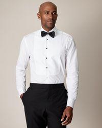 Jaeger Cotton Evening Marcella Regular Bib Shirt - White
