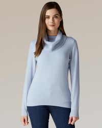 Jaeger - Waffle Stitch Detail Cashmere Cowl Neck Jumper - Lyst