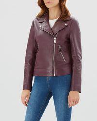 b9b26a7867d Lyst - Women s Jaeger Leather jackets On Sale