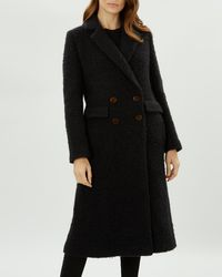 Jaeger - Textured Boucle Wool Coat - Lyst