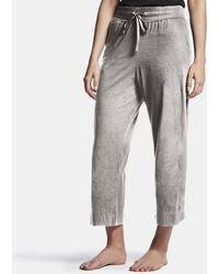 James Perse Luxe Lotus Jersey Cropped Pajama Pant - Gray