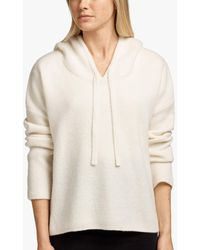 James Perse Cashmere Silk Cropped Hoodie - White