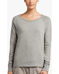James Perse Vintage Fleece Long Sleeve Sweatshirt - Gray