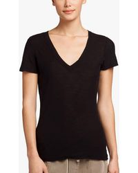 James Perse - Sheer Slub Casual V-neck - Lyst