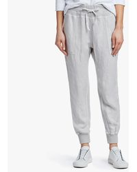 James Perse Canvas Linen Relaxed Pant - Metallic