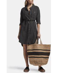 James Perse Utility Shirt Dress - Black