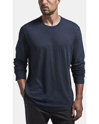 James Perse Shirttail Hem Crew - Blue