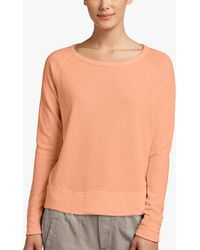 James Perse Vintage Fleece Long Sleeve Sweatshirt - Orange
