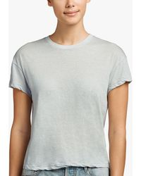 James Perse - Feather Cotton Linen Vintage Tee - Lyst