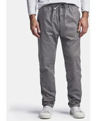 James Perse Lightweight Printed Flannel Pant - Grey