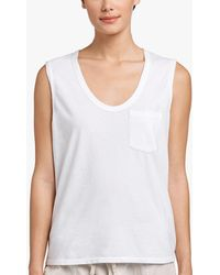 749d2c8521735 Lyst - James Perse Ribbed V-neck Tank in White