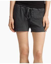 James Perse Knit Jersey Pajama Short - Black