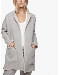 James Perse - Reversible Wool Blend Coat - Lyst