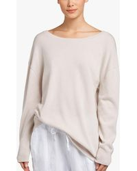 34146c4ae1 Lyst - James Perse Two Tone Off Shoulder Sweater in Gray