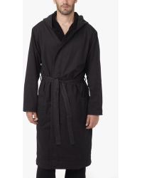 James Perse - Micro Twill Terry Lined Robe - Lyst