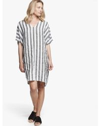 James Perse - Striped Linen Caftan - Lyst
