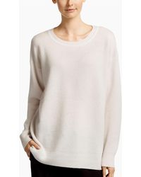 James Perse - Oversize Cashmere Crew - Lyst