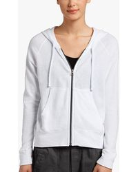 James Perse Vintage Fleece Long Sleeve Hoodie - White