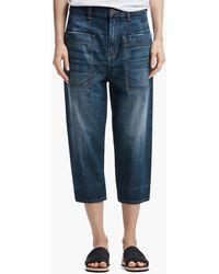James Perse - Cropped Denim Pant - Lyst